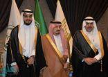 أمير الرياض يشارك مدير عام  تعليم الرياض فرحته بزفاف ابنه