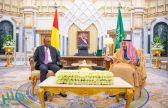 خادم الحرمين يستقبل رئيس غينيا ويعقدان جلسة مباحثات رسمية