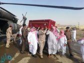 وصول الشهيد البطل عوض الزهراني إلى محافظة المخواة