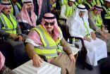 الأمير فيصل بن بندر يتفقد أعمال مشروع قطار #الرياض