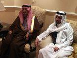 أمير منطقة #الرياض يعزي بن معمر والسديري
