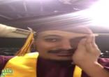 شاهد.. لحظة بكاء مبتعث فرحاً خلال حفل تخرجه في جامعة أريزونا بأمريكا