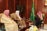 نائب أمير مكة المكرمة يستقبل رئيس جمعية تحفيظ القرآن الكريم بالمنطقة