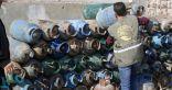 مركز الملك سلمان للإغاثة يوزع وقود التدفئة وأسطوانات الغاز في الشمال السوري