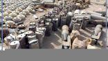 شاهد.. ترسانة من الأسلحة والصواريخ تركها الحوثيون قبل هروبهم من الحديدة