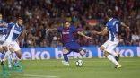 ميسي يقود برشلونة للإنفراد بالصدارة بعد فوزهم بخماسية على إسبانيول