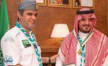 """بالصور.. وزير التعليم يقلد وزير الداخلية ورئيس """"أمن الدولة"""" القلادة الذهبية للكشافة"""