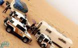 """الجهات الأمنية تحرر 33 شخصاً سجنهم مهربو عمالة داخل """"كرفان"""" بوادي الدواسر"""
