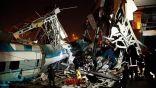 اصطدام قطار سريع بجسر في أنقرة وسقوط مصابين