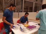 تنفيذ حملة تبرع بالدم هذا المساء والحصيله ٨٠ وحده دموية