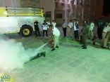 كشافة تعليم «وادي الدواسر» يتدربون على أعمال الدفاع المدني