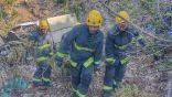 سقوط مركبة في جبل دكا بالطائف يسفر عن عن وفاة شخصين وإصابة 6 آخرين
