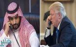 ولي العهد يتلقى اتصالاً هاتفياً من الرئيس الأمريكي