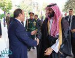 """القاهرة.. ولي العهد يصل قصر الاتحادية و""""السيسي"""" في استقباله"""