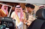 الأمير مشعل بن ماجد يطلع على عربة رصد آلي للمخالفات المرورية