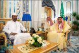 خادم الحرمين يستعرض آفاق التعاون مع رئيس اتحاد البرلمانيين الأفارقة