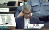شاهد .. رجل أمن يحرج مندوب إيران بالأمم المتحدة