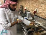 «بلدية بارق» تقوم بجولة مسائية على المطاعم و تتلف 15 لتر من الزيوت