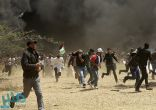 إصابة عدد من الفلسطينيين برصاص قوات الاحتلال وآخرين بالاختناق شرق قطاع غزة