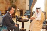 أمير مكة يستقبل القنصل العام للمملكة الأردنية الهاشمية