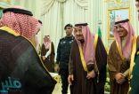 خادم الحرمين يستقبل كبار مسؤولي القطاع المالي في المملكة