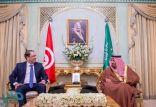 خادم الحرمين الشريفين يستقبل رئيس وزراء تونس