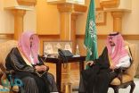 الأمير بدر بن سلطان يستقبل رئيس المحكمة العامة بجدة