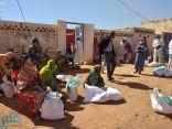 مركز الملك سلمان للإغاثة يوزع أكثر من 160 طناً من السلال الغذائية في ولاية غرب كردفان السودانية