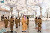 أمير المدينة المنورة يقف على أعمال الجهات الحكومية والأهلية المعنية في خدمة قاصدي المسجد النبوي