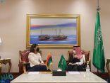 وزير الخارجية يتلقي نظيرته الليبية