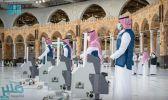 تكثيف عمليات التعقيم بالمسجد الحرام مع بدء استقبال المعتمرين