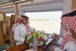 الأمير بدر بن سلطان يستقل قطار الحرمين متوجهاً إلى مكة لمباشرة مهام عمله