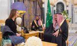 خادم الحرمين الشريفين يستقبل رئيسة الاتحاد البرلماني الدولي