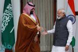 ولي العهد : 100 مليار دولار استثمارات متوقعة مع الهند خلال عامين