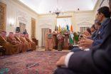 ولي العهد ورئيس وزراء الهند يحضران توقيع 5 اتفاقيات