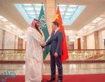 ولي العهد يبحث العلاقات المشتركة مع نائب رئيس مجلس الدولة بالصين
