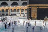 ضيوف الرحمن يواصلون التوافد على المسجد الحرام لأداء العمرة