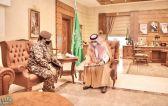 الأمير مشعل بن ماجد يستقبل قائد القوة الخاصة للأمن البيئي بمكة المكرمة