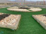 بلدية بارق تواصل تجميل الجزر الوسطية بالأحجار الطبيعية
