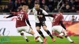 كريستيانو رونالدو ينقذ يوفنتوس من الخسارة أمام ميلان في ذهاب نصف نهائي كأس إيطاليا (فيديو)