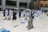 أيادي سعودية تشرف على الأعمال الميدانية في المسجد الحرام