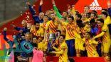 برشلونة يضرب أتلتيك بلباو برباعية ويتوج بطلا لكأس ملك إسبانيا
