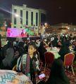 رجل الاعمال بسام وعظ الدين يقيم حفل معايدة لأهالي حي الهجرة و بطحاء قريش