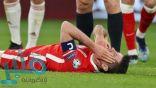 الإصابة تحرم ليفاندوفسكي من مباراتي بايرن ميونخ ضد باريس سان جيرمان