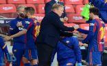 """كومان يفتح النار على رئيس برشلونة المؤقت بسبب تصريحات """"بيع ميسي"""""""